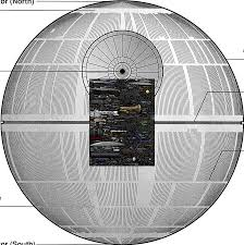 death star size relative size of the death star imgur