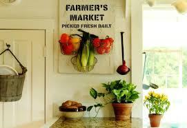 salvaged wood farmer s market sign kitchen produce baskets knickoftime net