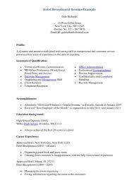 Hotel Management Resume Format It Cover Letter Sample Hospitality