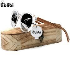 er ablibi cat eye womens sunglasses wooden sunglasses mens shades designer brand coating uv400 glasses