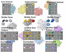 Leather Armor Patterns Amazing Dye Patterns For Leather Armour [Updated] Minecraft