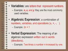 algebra contains formulas variables expressions equations and inequalities