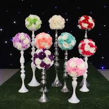Decorative Ball Holder Grace artificial fower rose ball for wedding decoration Hotel 58