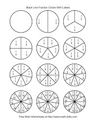 fraction_circles_labeled_pin fraction circle worksheets & montessori monday diy montessori on fraction addition and subtraction worksheet