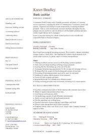 Bank Cashier Cv Sample Excellent Face To Face Communication Skills