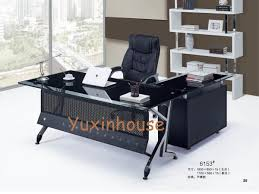 Office Table Design Gorgeous Tempered Glass Office Desk Commercial Office Furniture Executive