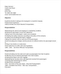 Resume Template For Driver Position Drivers Cv Template