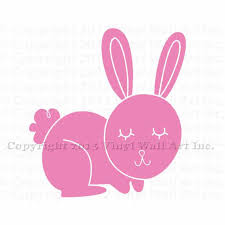 Small Picture Bunny Vinyl Decal Size SMALL Home Decor Childrens Room Decor
