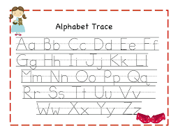 Free Printable Alphabet Tracing Mats Chart With Pictures Coloring