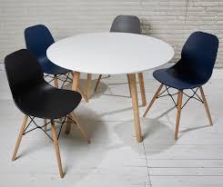 Esszimmertisch Rund 110 Cm Weiß Natur Esstisch Runder Tisch