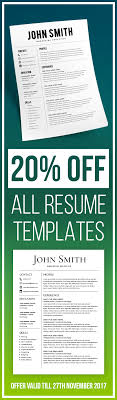 20 Off All Resume Templates Resume Template Resume Builder