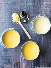 step by step tutorial to make a homemade citronella candle from beeswax but