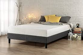 wood platform bed frame full. Modren Wood Zinus Essential Upholstered Platform Bed Frame  Mattress Foundation No  Boxspring Needed Wood Slat Inside Full