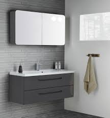 masculine furniture. more masculine layout with grey gloss furniture and black handles mirror cabinet rounded corners s