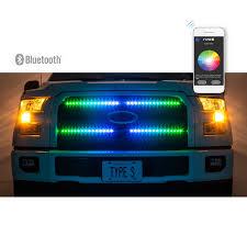Types App Controlled Led Lights Plug Glow App Controlled 72 Smart Led Front Grill Kit