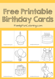 Birthday Cards Images Free Your Little One Can Color And Give His Own Card To Friends Or Family