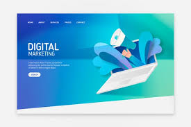Landing Page With Laptop Concept For Template Vector Free