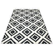 image 0 black and white kilim rug geometric black and white