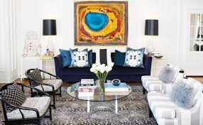 I love how interior designer Ryan White transformed this giant living room  in Korean town to make it seem livable yet still be able to entertain a big  group ...