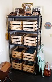 garage wooden crates storage