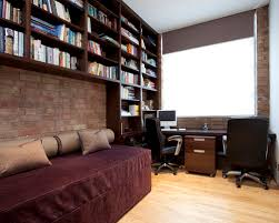 office bed. inspiration for a contemporary builtin desk light wood floor home office remodel in london bed