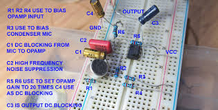 electret microphone preamplifier wiring diagram and test electret microphone preamplifier wiring diagram and test