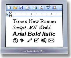 Text in a multimedia presentation