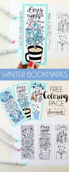 Free Winter Bookmarks Coloring Page A