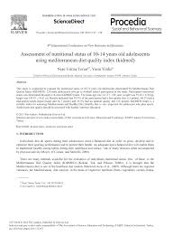 Assessment Of Nutritional Status Of 10 14 Years Old