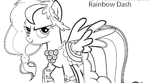 Coloring Pages Rainbow Dash Coloring Sheets Page Pages Free