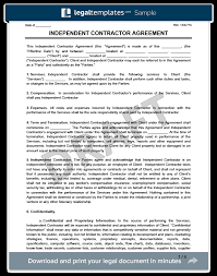 Independent Contractor Agreement Template Create An Independent Contractor Agreement Legaltemplates
