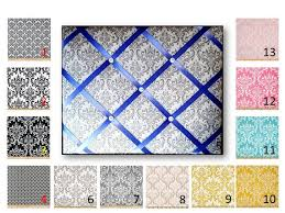 Damask Memo Board Extraordinary Damask Print French Memo Board In Your Choice Of Damask Etsy