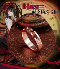 anime date a live tokisaki kurumi 925 sterling silver ring party cosplay gift