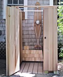 diy outdoor shower enclosure designs