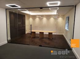 glass office partitioning middrough