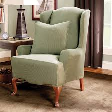 Machine Washable Rugs For Living Room Twill Supreme Wing Back Chair Slipcover 100 Percent Cotton