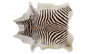 faux zebra hide brown