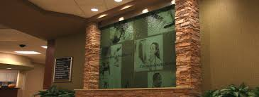 transparent wall panels. Reception Area Custom Water Wall Transparent Panels