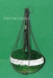 Weihnachten Alter Christbaumschmuck Grünes Schiff Leonische Drähte Um 1900