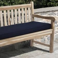 navy blue bench. Clara Indoor/ Outdoor Navy Blue Bench Cushion Made With Sunbrella