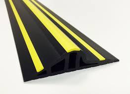 30mm black yellow rubber garage threshold seal garage garage door flood barrier seal kit weather stop