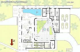 u shaped house plans with courtyard modern u shaped house plans courtyard homes house plans home