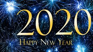 Happy New Year 2020 Blue Hd Wallpaper For Laptop And Tablet