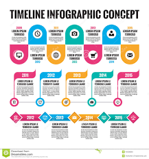 Creative Timelines For Projects Infographic Concept In Flat Design Style Timeline Template For