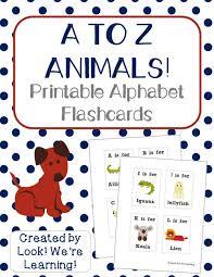 Free Alphabet Flash Cards Free Printable Flashcards Alphabet Animals Look Were