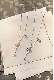 generic korean version of the small key with lock flash drill clavicle chain short necklace female
