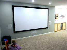 post home theater screen paint diy projector depot wall or size