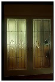 pocket door panels clear textured and bevelled glass residence nw washington dc