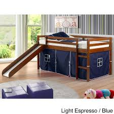 Shop Donco Kids Twin-size Tent Loft Bed with Slide - On Sale - Free ...