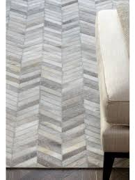 quick view gaucho chevron leather cow hide rugs in beige free uk delivery